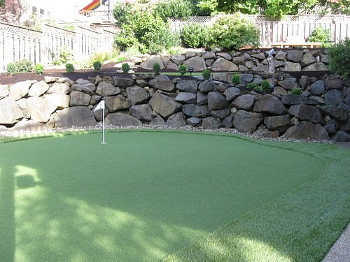 Green and Retaining Wall